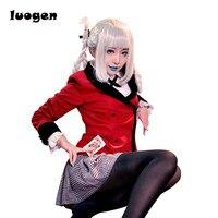 תחפושות קוספליי אנימה Kakegurui Tsukishima Momobami JK בית ספר מדים סיילור Mavy חולצה שרוול ארוך חצאית חליפה במכללה