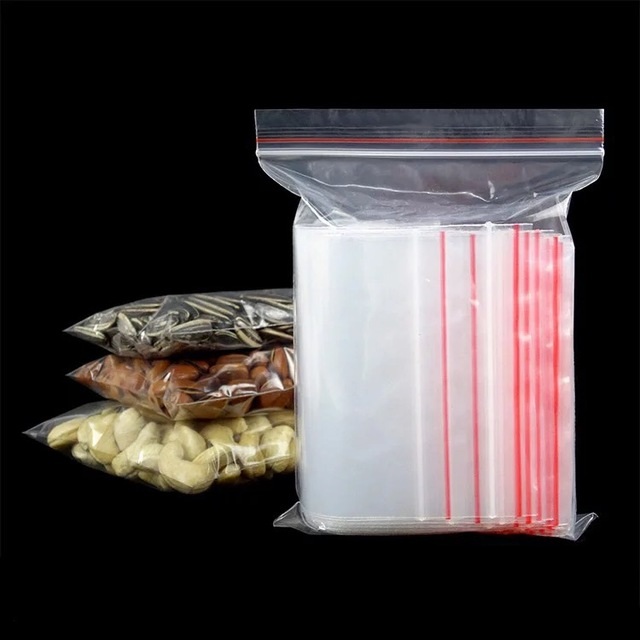Tamanho 100 pcs 10 7x15/6x8 Pequeno Mini Saquinhos Zip lock Sacos de Embalagem de Plástico pequeno zíper do saco de plástico ziplock Sacos de Embalagem De Armazenamento