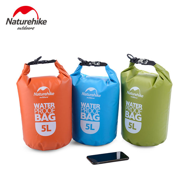 NatureHike NEW 5L High Quality Outdoor Waterproof Bags Ultralight Camping Hiking Dry Organizers Drifting Kayaking Swimming Bag