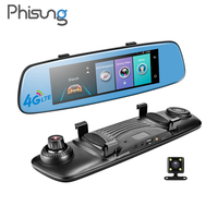 Phisung E06 4G Car DVR 7 84 Touch ADAS Remote Monitor Rear View Mirror With DVR