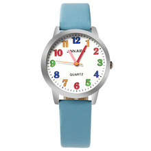 ot03 2017 New Cartoon Children Watch Boy Girl Kids Movement  Leather Sports Quartz Wristwatches Relojes