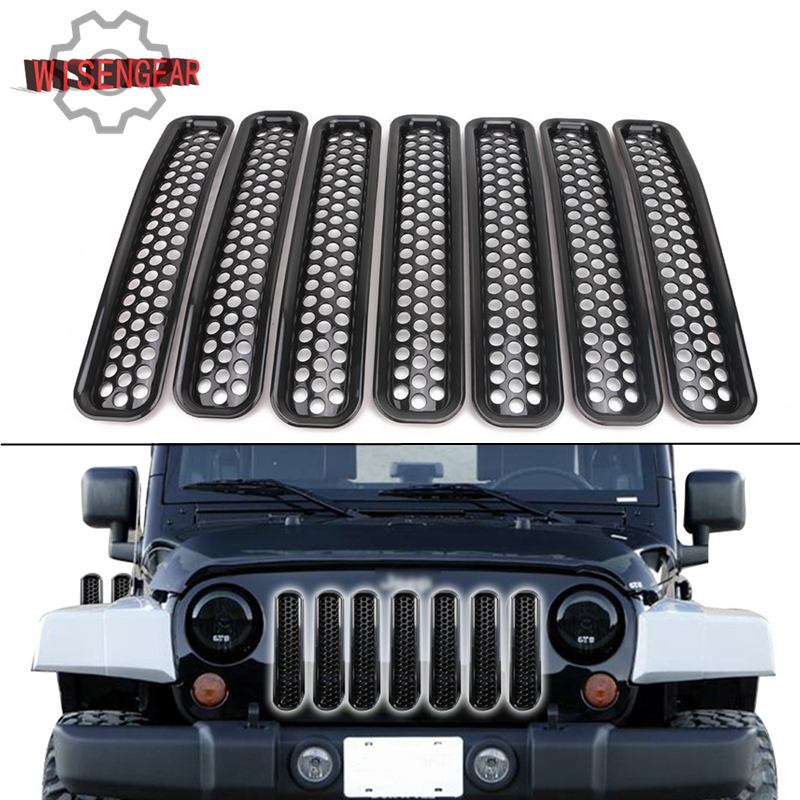 Big Deal Black Mesh Grille Inserts Grill For Jeep Wrangler