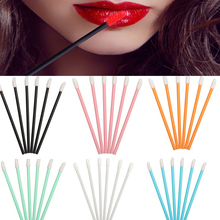 50pcs/Set Disposable Makeup Lip Brush Lipstick Gloss Mascara Wands Applicator Make up Brushes Applicators Tool Portable Cosmetic amazing capped portable retractable smooth lipstick gloss lip brush make up gift random color