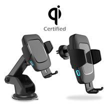 Bakeey 10 w sensor automático do carro qi almofada de carregamento sem fio universal carregador telefone suporte carro montagem para samsung para iphone xiaomi1