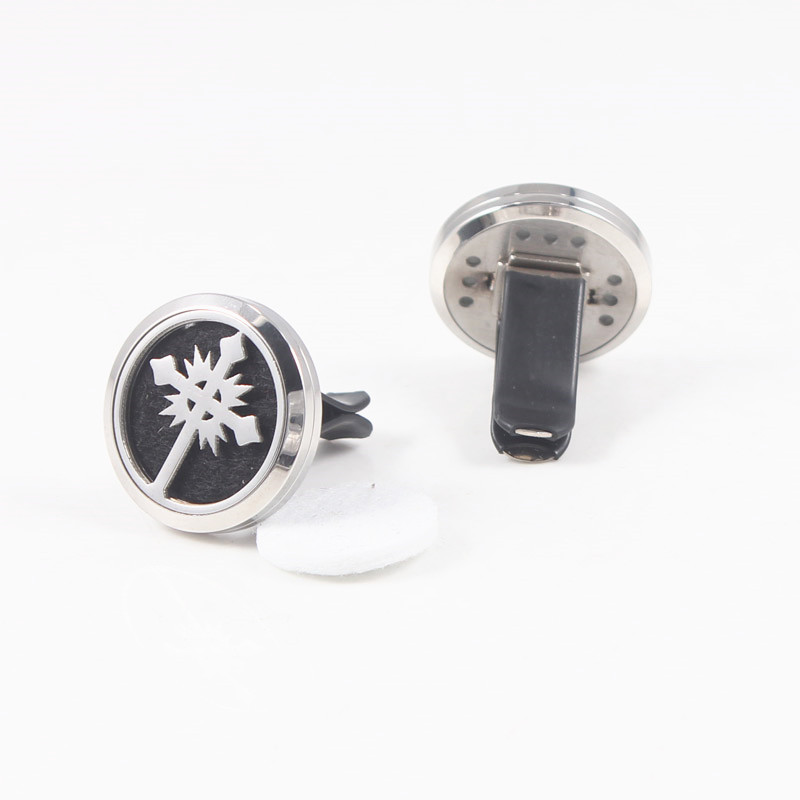 Essential Oil Car Diffuser Locket Vent Clip 316L Stainless Steel Car Aroma Diffuser Locket Pendant For Women in Pendants from Jewelry Accessories