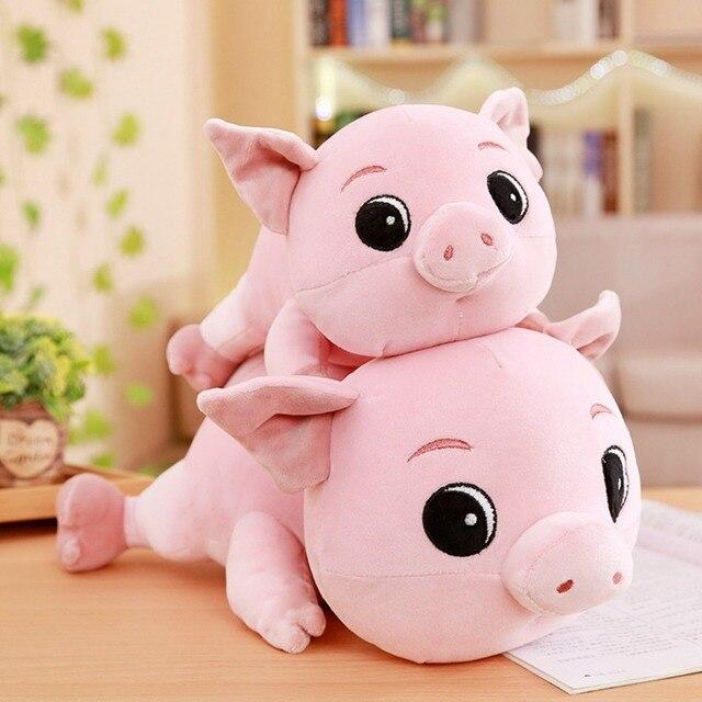 30-50 centímetros nova rosa piggy boneca brinquedos de pelúcia macia bonito presente para amantes do porco travesseiro porco do bebê de presente de natal atacado vendas no varejo
