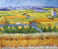 Farm busy season pictures by Van Gogh oil painting reproduction decorative artwork for business partner gift No Frame