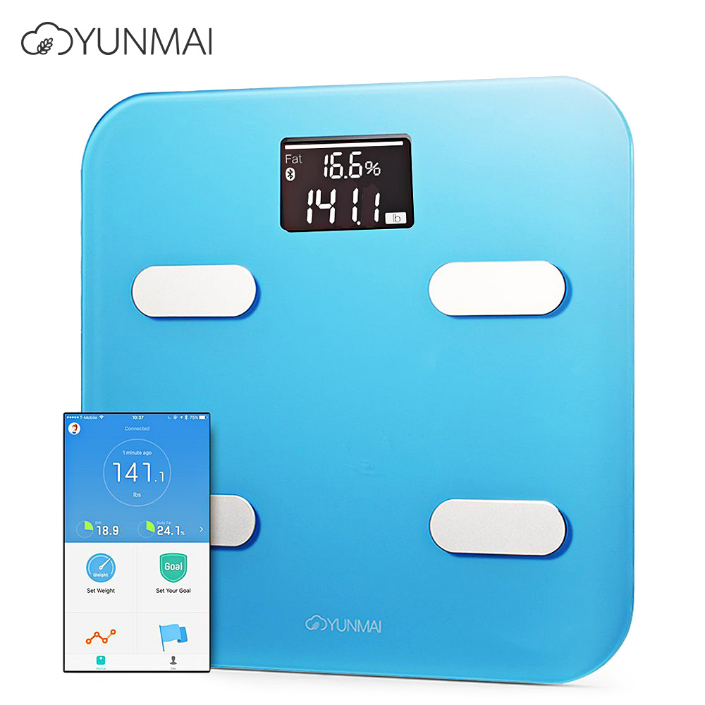 YUNMAI M1302 Ménage Balance Électronique App Contrôle Bluetooth Smart Corps Graisse Pesant Échelle LA technologie BIA Salle De Bains Produit dans Salle de bains Échelles de Maison & Jardin