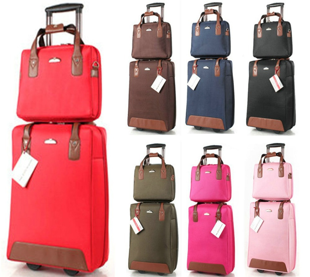 Online Shop New Suitcase Fashion Girls Trolley Luggage Sets, One ...