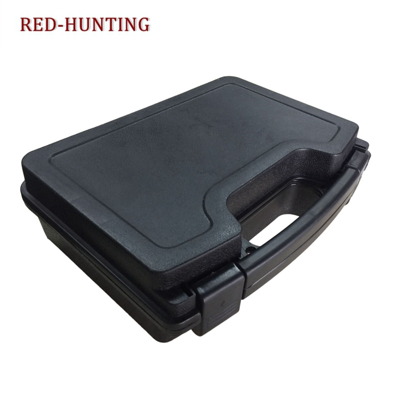 New Big Capacity ABS Pistol Gun Box Tactical Hard Gun Case Padded Foam Lining For Hunting Airsoft  Paintball