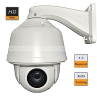 Auto Tracking CCTV 6inch High Speed Dome PTZ Camera 20X Zoom 1.3MP 960P Onvif