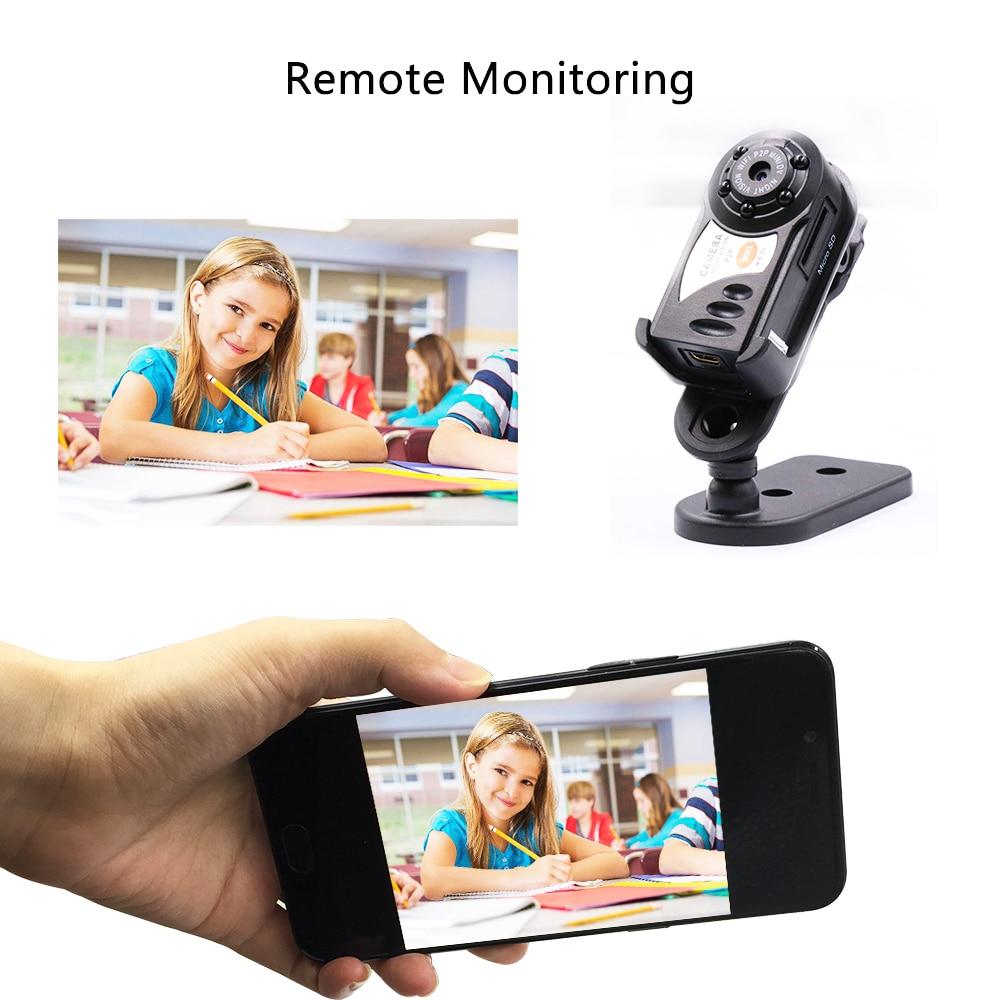 best HD mini dv video camera wifi espia Q7 mini home security camera Wireless IP Cam DVR Camcorder Recoder