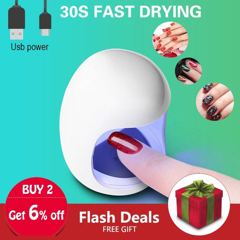 Egg Shape 3W UV LED Lamp for Nail Single Finger Lamp Nail Gel Polish Dryer Drying