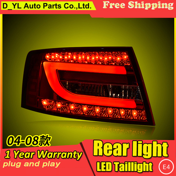Car Styling Tail Lamp for A6 Tail Lights 2004-2008 For A6 LED Rear Light Tail Lamp DRL+Brake+Park+Signal Stop light