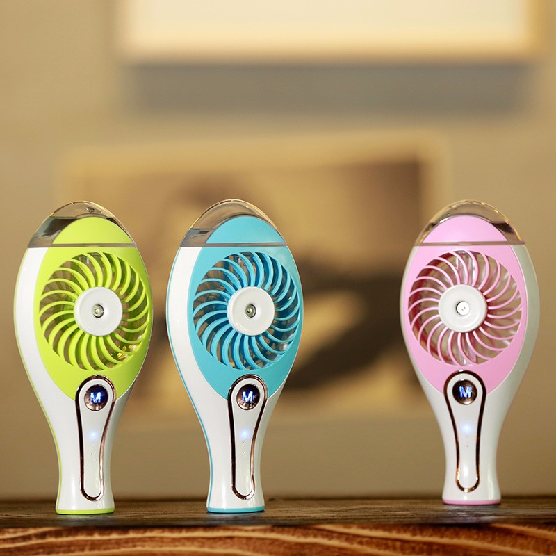 New Summer <font><b>Humidifier</b></font> USB Fan Mini Air Conditioner Rechargeable Water Mist Fan With Lithium Battery Laptop Car Air Cooling Fan
