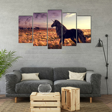 Canvas Painting Wall Art Picture Print On Canvas 5 Pieces Modular Horse Poster For Living Room