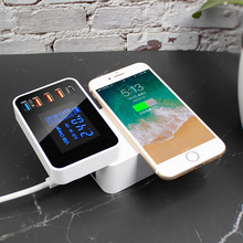QI 10W Wireless usb Charger Quick Charge 3.0 Led Display Type C Multi smart HUB charging station adapter for iphone ipad sumsung