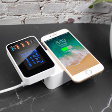 QI 10W Wireless usb Charger Quick Charge 3.0 Led Display Type C Multi smart HUB charging station adapter for iphone ipad sumsung(China)