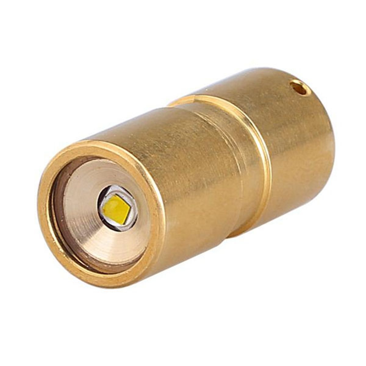 DQG Brass copper Fairy Brass XP-G2 R5 200 LM Mini LED Light Torch Flashlight With Tritium Vials dqg ti v3 100 lumens 2 modes flashlight xp g2 r5 torch led camping flashlight for aaa 10440 battery with tritium vials