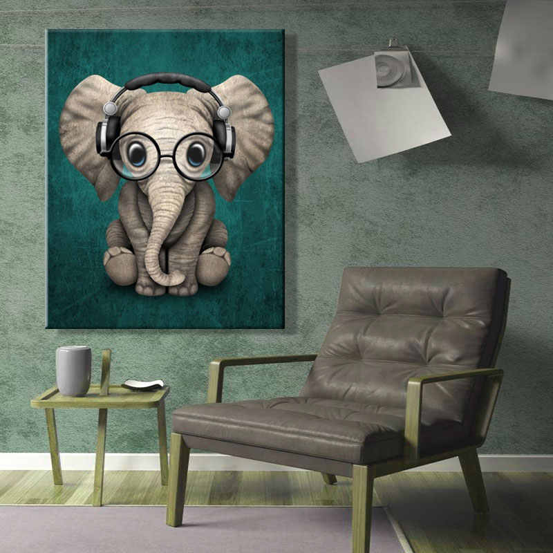 paint by numbes art painting by numbers Artwork Elephant Decorative hanging painting Bedroom manual DIY Animal Abstract painting