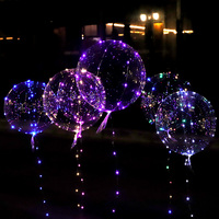 Umehe 50Pcs Luminous Led Balloons Clear Bubble Balloon With Led Strip Copper Wire for Wedding Birthday Party Decoration Toy