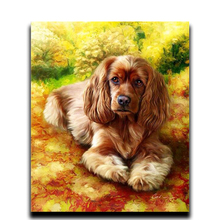 Diy diamond painting cross stitch 3d square drill Diamond Mosaic complete picture Embroidery Arts and Crafts Prosper dog