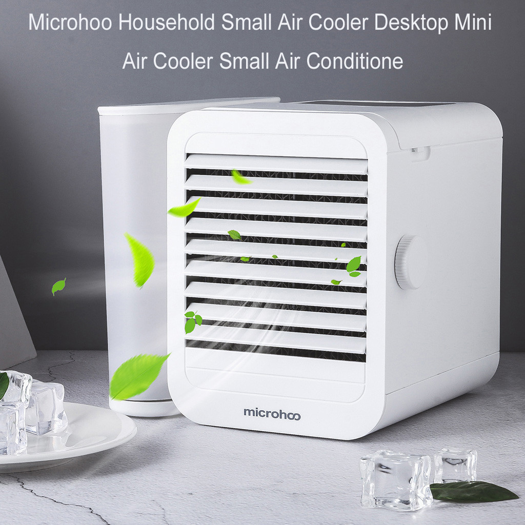 2019 Hot New Products Microhoo Household Small Air Cooler Desktop Mini Air Cooler Small Air Conditione Accessories  Decoration
