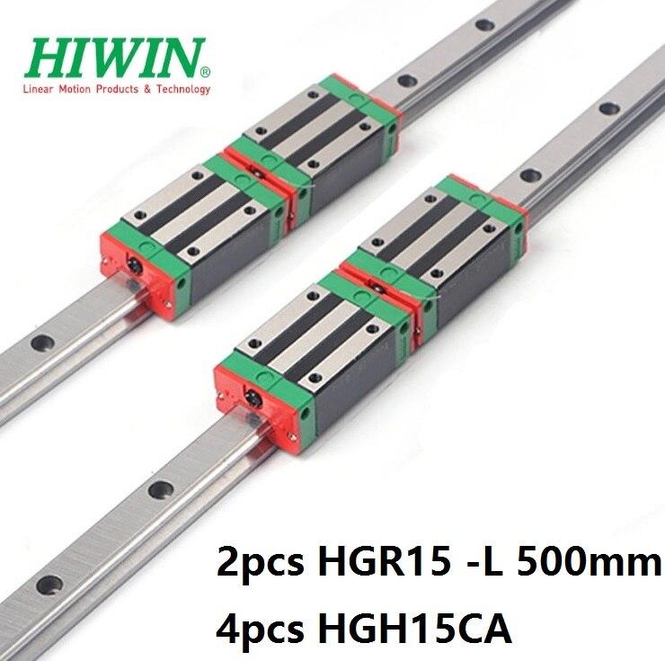 2pcs 100% original Hiwin linear guide HGR15 -L 500mm +4pcs HGH15CA narrow blocks for cnc 2pcs 100% original Hiwin linear guide HGR15 -L 500mm +4pcs HGH15CA narrow blocks for cnc