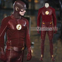 The flash cosplay costume barry allen suit male the flash season 2 barry allen costume font.jpg 200x200
