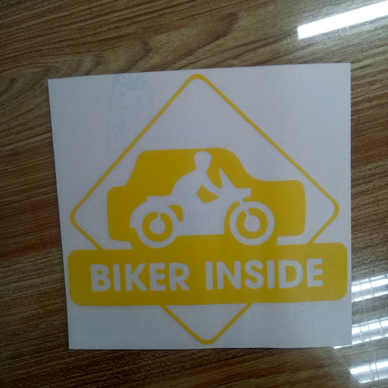 15 15 8cm Biker Inside Cool Graphics Car Sticker Funny Car Stickers Decals Vinyl Decals in Car Stickers from Automobiles Motorcycles