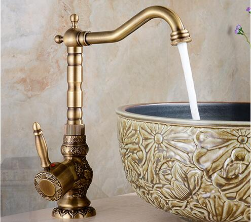high quality total brass material bronze plating classic design bathroom single lever hot and cold basin mixer sink faucet fashion high quality good plating total brass material hot and cold single lever bathroom basin mixer sink faucet