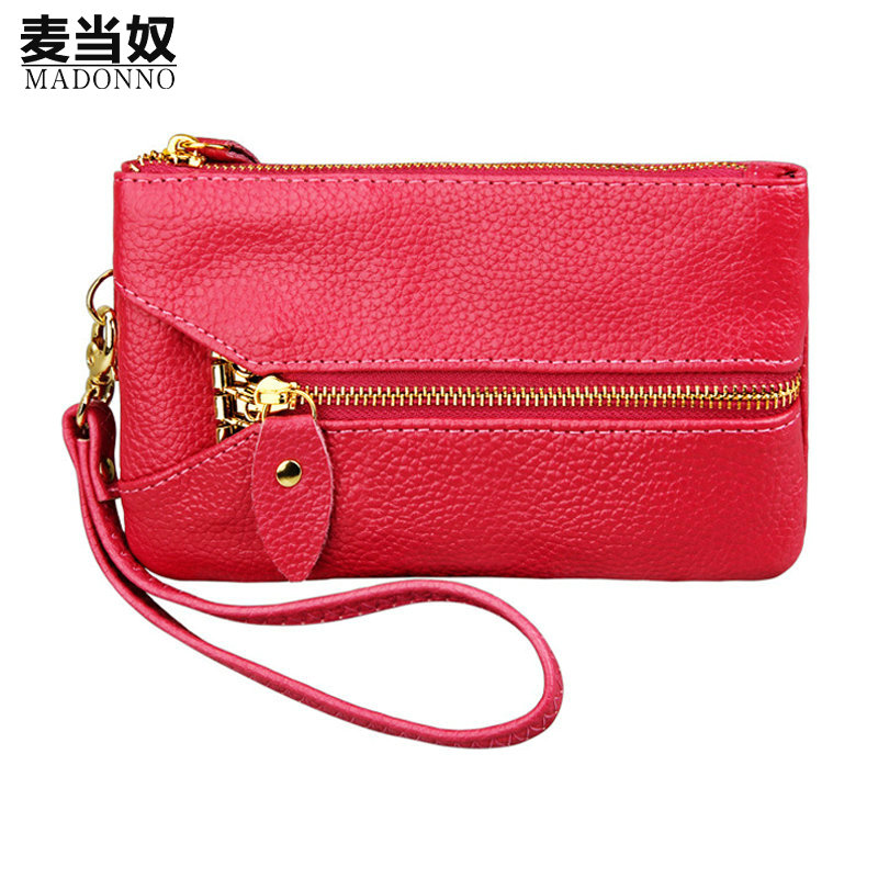Women Mini Bag Female Coin Purse Small Wallets 100% Genuine Leather Lady Zipper Charge Purses Girls Purse Wallet -5 zipper coin purses card holder women purse mini short wallet small balck coin bag purses lady clutch bag girl wallet wholesale