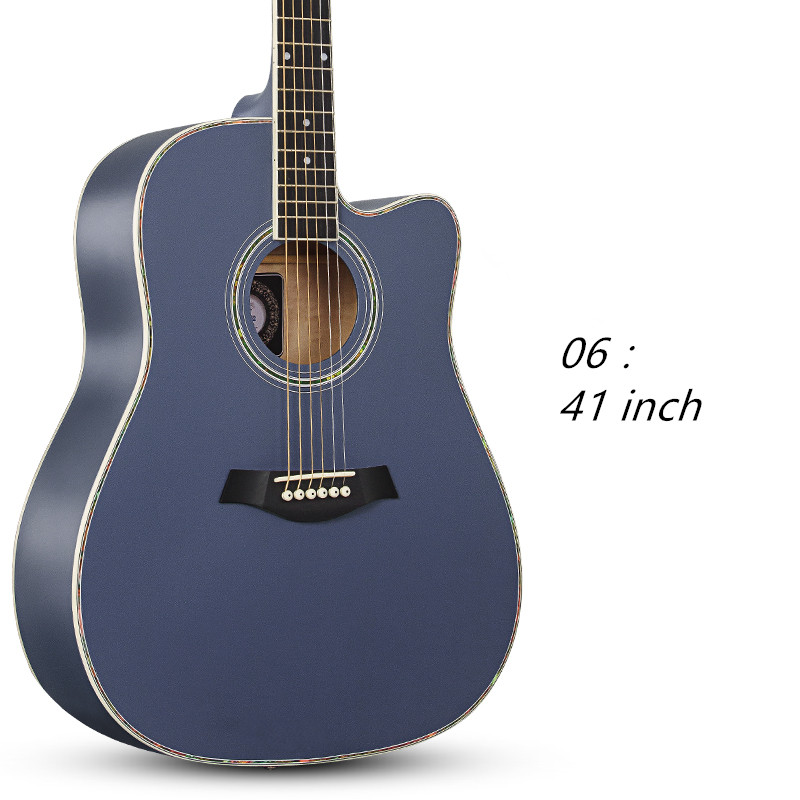 Acoustic Guitar Folk  41 inch Beginner Basswood Six Strings Guitar Rosewood Closed Knob 30 34 36 inch novice guitar beginner folk guitar six chord little guitar