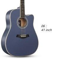 Akustik Gitar Halk 41 inç Acemi Basswood Altı Dizeleri Gitar Gülağacı Kapalı Topuzu