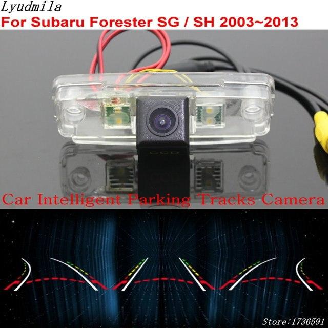 Lyudmila Car Intelligent Parking Tracks Camera FOR Subaru Forester SG / SH 2003~2013 / Car Back up Reverse Rear View Camera
