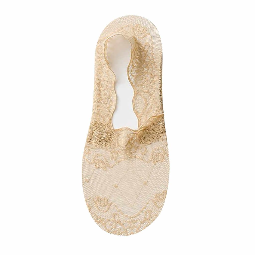 Jaycosin 女性浅い口カジュアルディープ口レースボートソックス無地綿の靴下靴下快適な