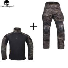 EMERSONGEAR 사냥 의류 무릎 패드와 전투 바지 emerson 바지 Multicam Shitr 블랙 전술 위장 바지 G3 유니폼