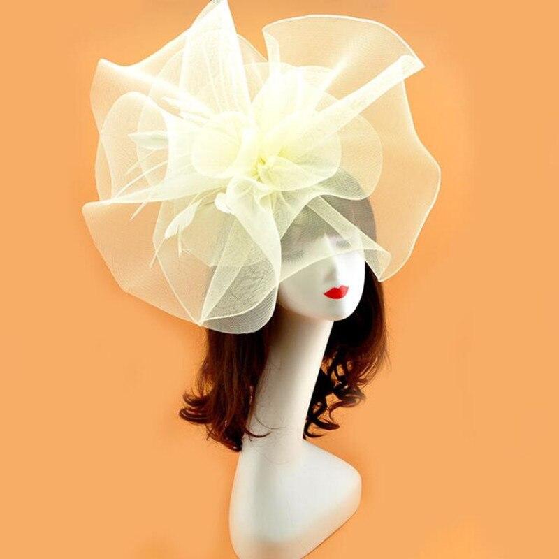 ผู้หญิงหญิงสาว Veil หมวกตาข่าย Feather Hairpins หญิงอุปกรณ์เสริมผมงานแต่งงานโปรดปราน-ใน ของขวัญงานปาร์ตี้ จาก บ้านและสวน บน   2