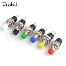 2 шт. черный/синий/зеленый/красный/белый/желтый 7 мм многоцветная резьба 2 шпильки Мгновенный кнопочный переключатель