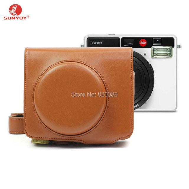 Новый жесткий чехол для камеры leica емкость, мешок камеры в коричневый цвет с плечевым ремнем, бесплатная Доставка