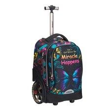 Новая детская мультяшная сумка на колесиках, детские чемоданы на колесиках, школьные сумки для мальчиков и девочек, милая сумка на колесиках mala