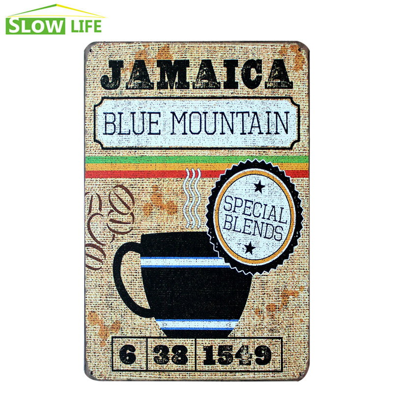 Haus & Garten Humor Jamaica Blue Mountain Kaffee Vintage Wohnkultur Zinn Zeichen Cafe Wand Decor Metall Zeichen Vintage Bild Kunst Poster Paiting Plaque Hindernis Entfernen Wohnkultur
