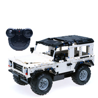 533pcs New Technology Remote Control Car Blocks Compatible LegoINGLYS Technic SUV Assembly Educational Toys For Kids