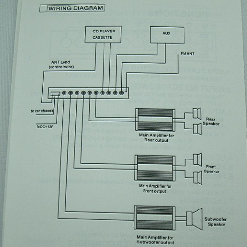 Car Audio Tuner 4 band Equalizer EQ Crossover Audio Processor ...