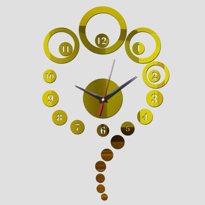 2017 top fashion 3d acrylic wall clock clocks mirror home decoration ...