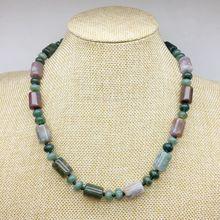 10 цветов натуральный камень бусы колье ожерелье труба шарик ожерелье с узелками вечерние подарок для нее 45 см серебряный цвет