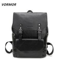 VORMOR Fashion Men Travel Backpacks Leather School Backpack Laptop Bags Vintage College Rucksack Daypack