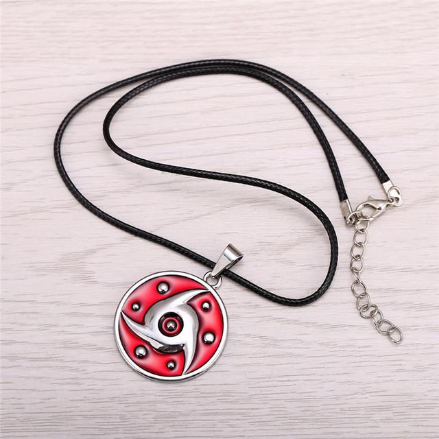 Naruto Metal Necklace Uchiha Itachi Mangekyou Pendant