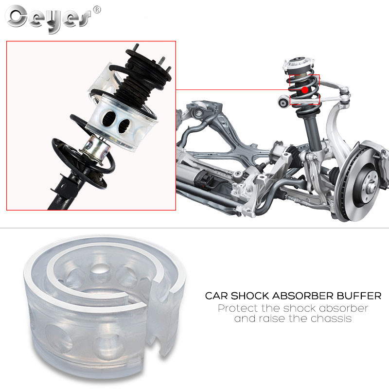Ceyes 2Pcs Car Shock Absorber Suspension Car Styling Autobuffer Spring Bumpers Power Accessories Auto Buffers Cushion Avtobafery