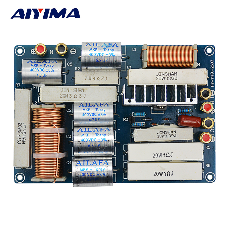AIYIMA 600W Professional Frequency Divider With Protection Divider Crossover Filter HiFi Audio System KTV Speaker Dedicated